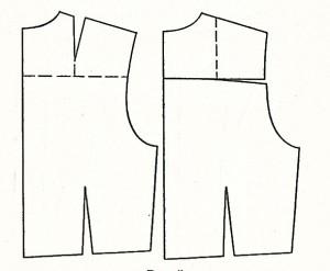 моделирование кокетки платья