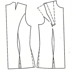 моделирование вытачек платья