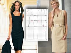 Простая выкройка : платье -футляр своими руками 79