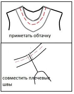 как обработать горловину платья