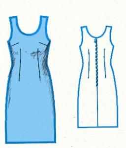 как раскроить платье футляр
