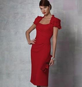 платье с имитацией жакета-болеро