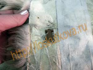 расположение крючков на подборте меховой жилетки