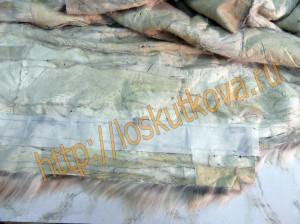 укрепите подборта меховой жилетки флизелином