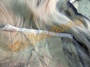 укрепление плечевыз срезов жилетки из меха