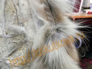 горловина-борт мехового жилета