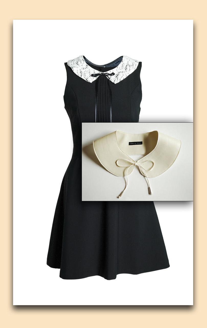 Сшить круглый воротник на платье