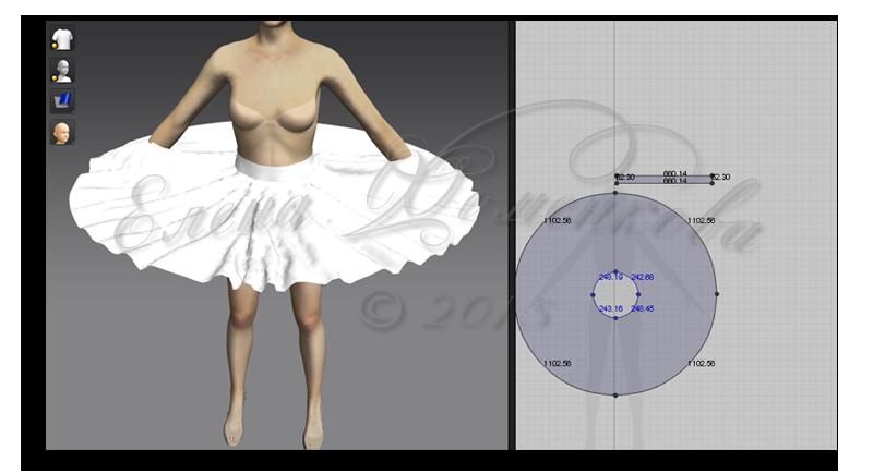 Легкий крой юбки