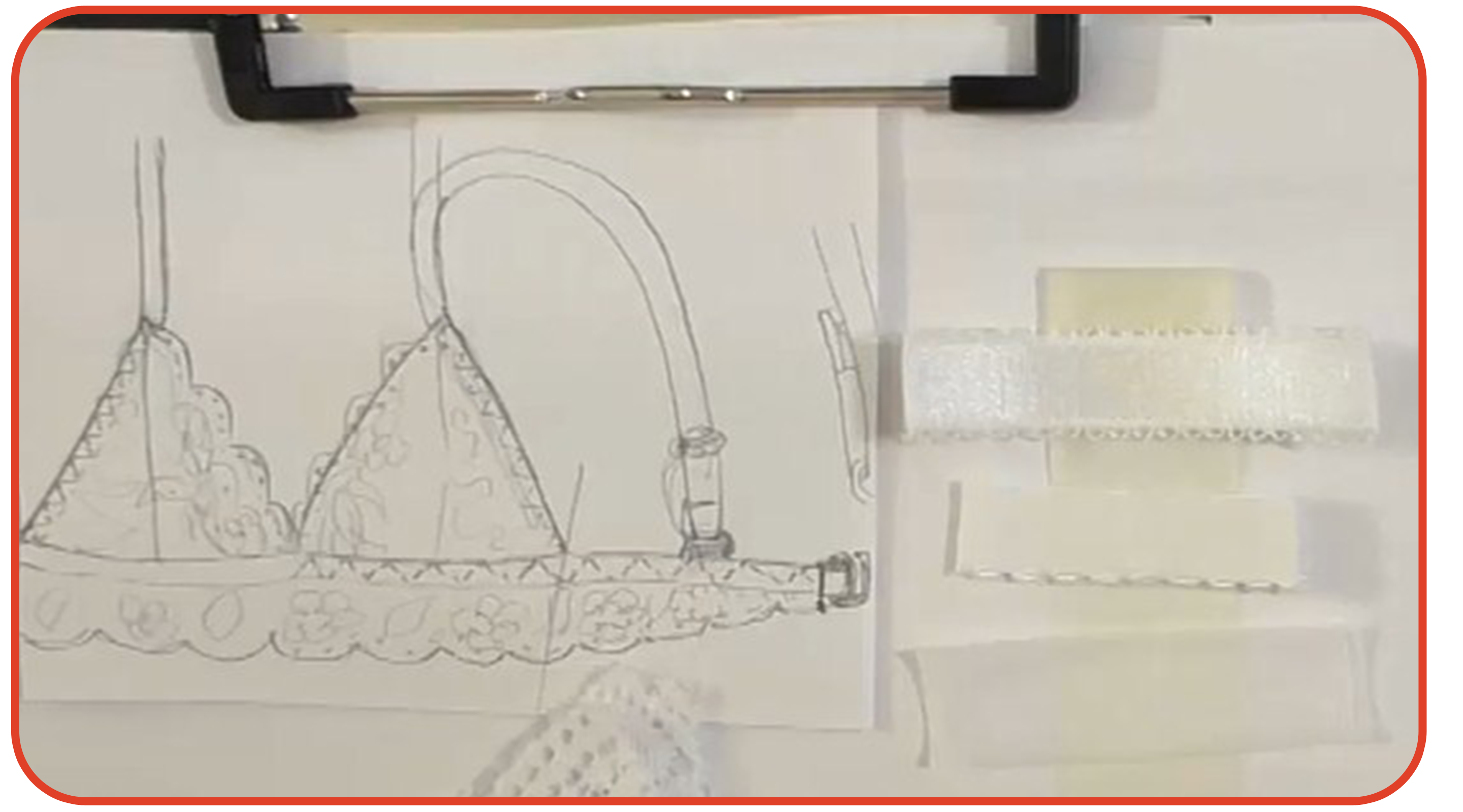 Как построить выкройку бра